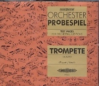 Test Pieces For Orchestral Auditions Trumpet (Orchester Probespiel) 4 Cds Only