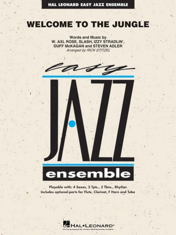 Easy Jazz Ensemble: Welcome To The Jungle: Ensemble Score & Parts