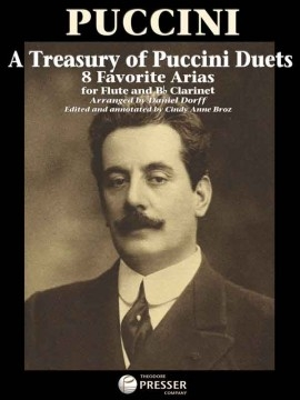 Treasury Of Puccini Duets:  8 Favourite Arias For Flute And Clarinet