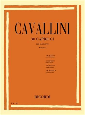 30 Caprices (30 Capricci): Clarinet Solo (Ricordi)