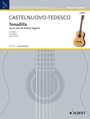 Tonadilla Auf Den Namen Von Andrés Segovia: Guitar (Schott)
