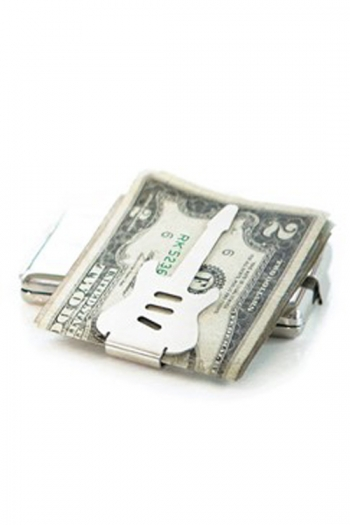 Rocket Gifts:  Guitar Shaped Money Clip