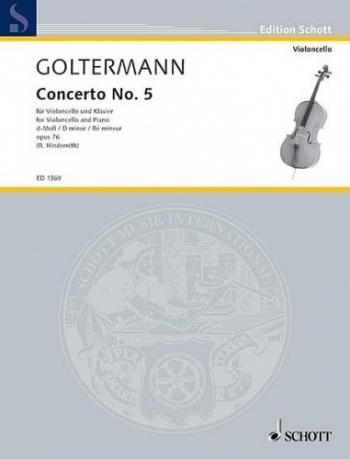 Concerto No.5 D Minor Op76: Cello (Schott)