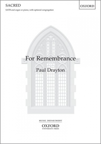 For Remembrance SATB Vocal