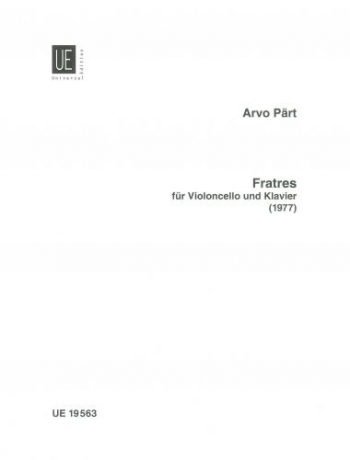 Fratres: Cello & Piano (1978) (Universal)