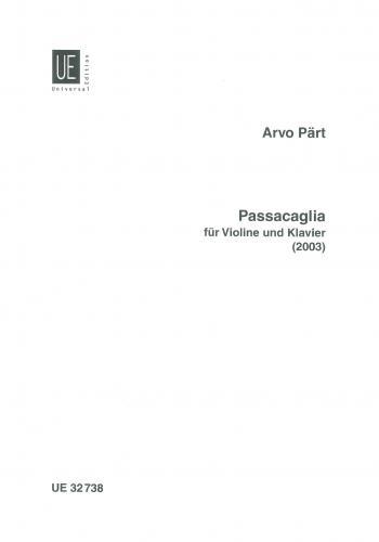 Passacaglia: Violin & Piano (Universal)