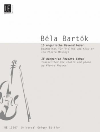 15 Hungarian Peasant Songs: Violin & Piano (Universal)