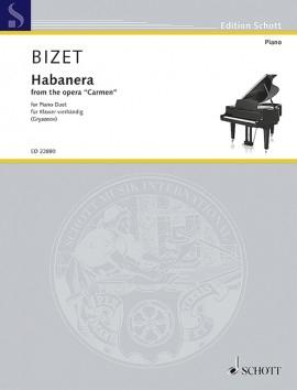 Habanera From Carmen: Piano Duet (Schott)