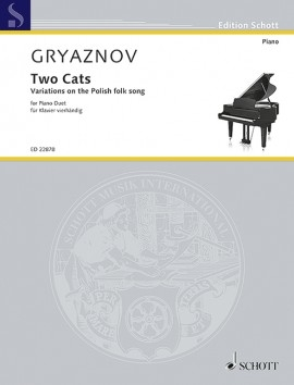 Two Cats (Variations On The Polish Folk Song): Piano Duet (Schott)