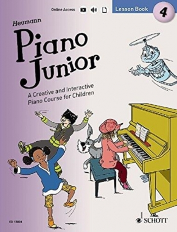 Piano Junior Lesson Book 4: Creative And Interactive Piano Course: Edition With Online Aud