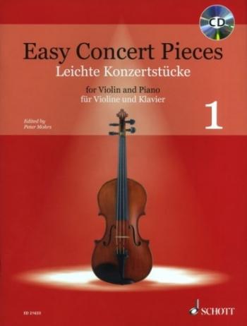 Easy Concert Pieces 1: Violin & Piano: Book & CD (Schott)