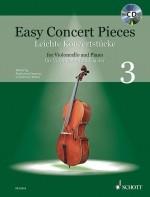Easy Concert Pieces 3: Cello & Piano Book & CD (Schott)
