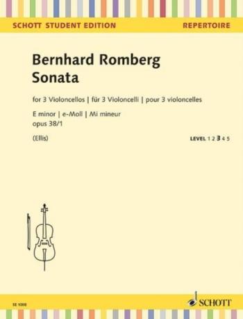 Sonata For 3 Cellos E Minor Op.38/1  (Schott)