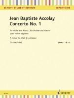 Violin Concerto A Minor No.1: Violin & Piano (Schott)