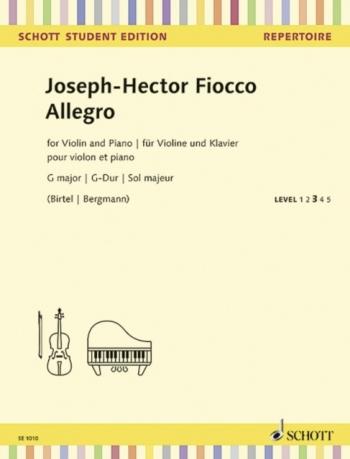 Allegro G Major: Violin And Piano  (Schott)