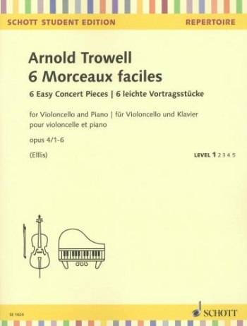6 Easy Concert Pieces Op.4/1-6: Cello & Piano (Schott)