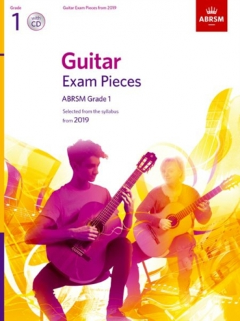 ABRSM Guitar Exam Pieces From 2019 Grade 1 - Book & CD