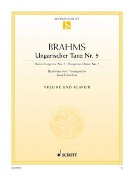 Hungarian Dances No. 5 Violin & Piano  (Schott)