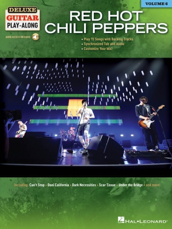 Red Hot Chili Peppers: Deluxe Guitar Play-Along Vol.6 Book & Online Audio