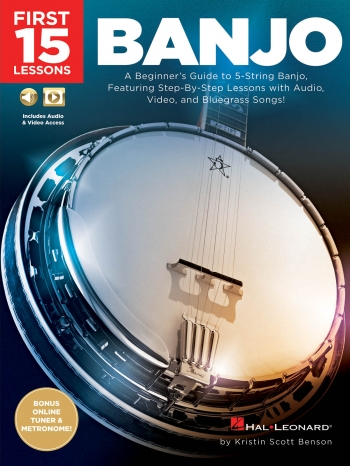 First 15 Lessons - Banjo: Book & Online Audio