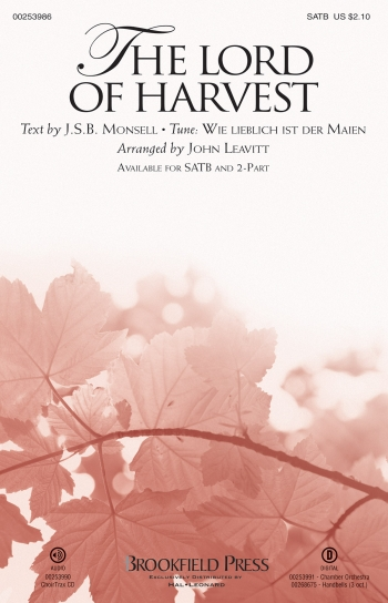 The Lord Of Harvest: Vocal: SATB  (Leavitt)