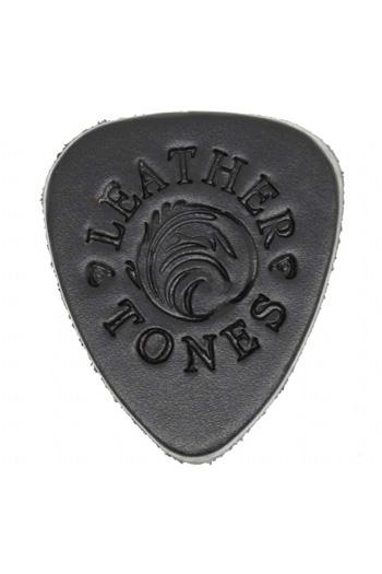 Ukulele Plectrum: Leather Tones Black Leather For Ukulele And Bass Guitar.