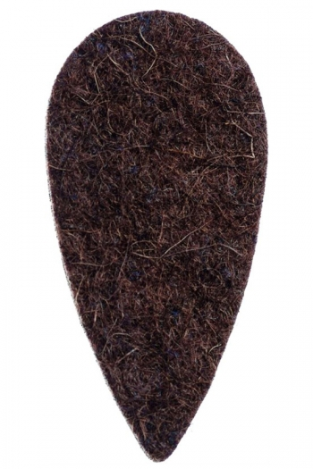 Ukulele Plectrum: Felt Tones Teardrop Brown Wool Felt