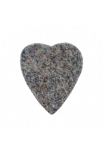 Ukulele Plectrum: Felt Tones Heart Grey Wool Felt