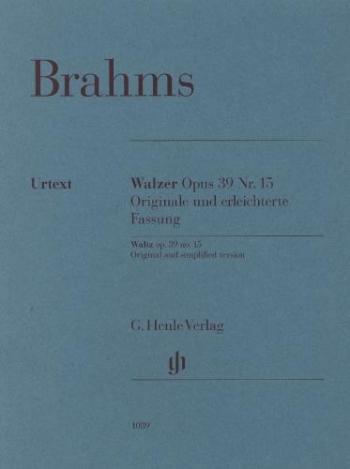 Waltze Op39 No.15: Orignal & Simplified Versions Piano (Henle)