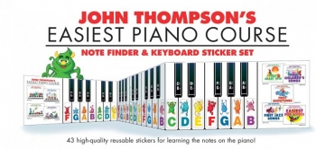 John Thompson's Easiest Piano Course Notefinder & Stickers (Indicator)