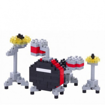 Nanoblock Drum Set Red