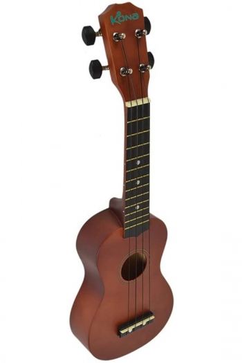 Kona Ukulele In Brown With Cover