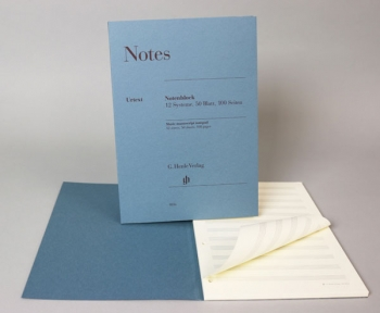 Manuscript:  12 Staves, 50 Sheets, 100 Pages, A4 (Henle)