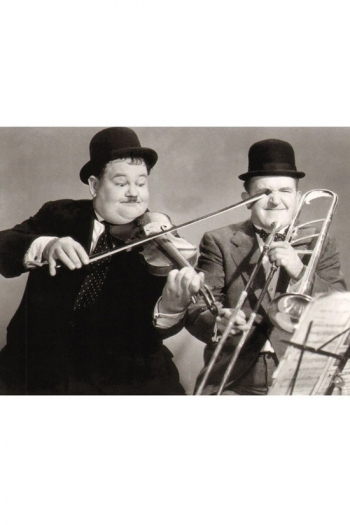 Greetings Cards Laurel & Hardy Playing The Fool Blank Inside