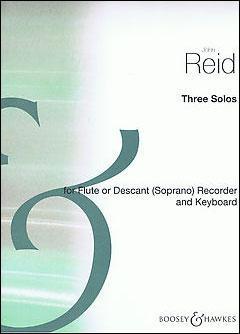Three Solos Descant Recorder Solo