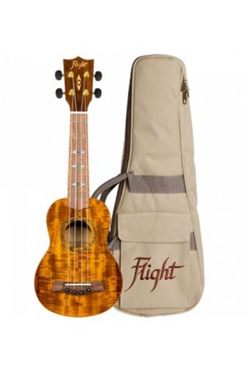 DUS445 Soprano Koa Ukulele (With Bag)