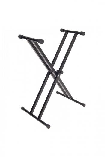 Kinsman Black Double Brace Foldable Keyboard Stand