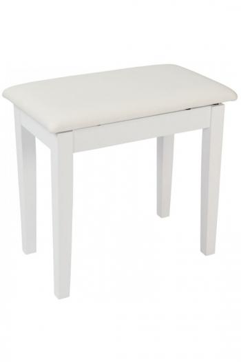 Kinsman Satin White Piano Bench With Storage