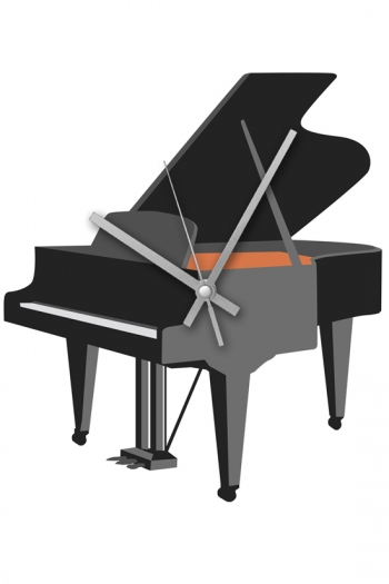 Rock Club Clock Grand Piano