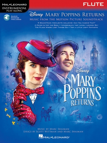 Instrumental Play-Along: Mary Poppins Returns - Flute Book/Online Audio
