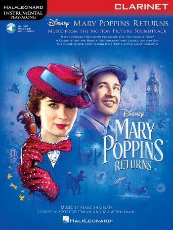 Instrumental Play-Along: Mary Poppins Returns - Clarinet Book/Online Audio