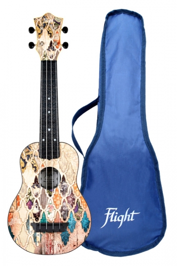 Flight: TUS40 Soprano Ukulele ABS Travel Ukulele – Granada