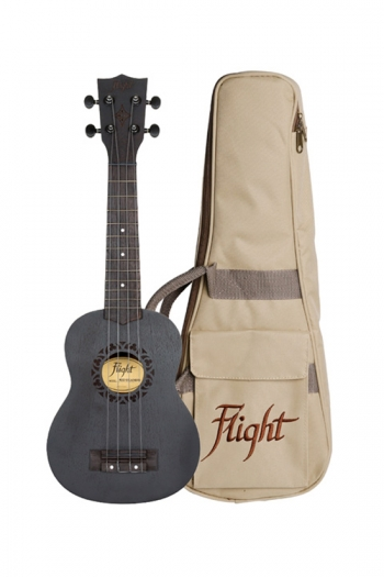 Flight: NUS310 Blackbird Soprano Ukulele - Sapele (With Bag)