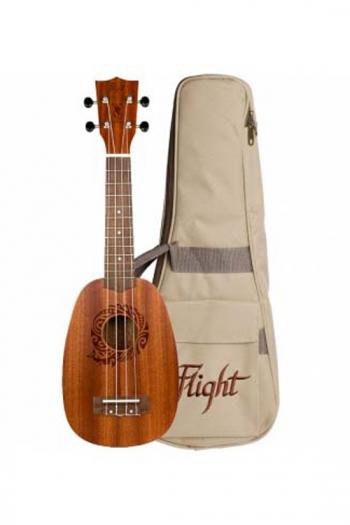 Flight: NUP310 Pineapple Ukulele - Sapele (With Bag)