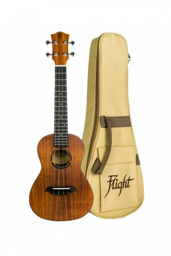 Flight: Juliana Concert Ukulele - Solid Koa Top (With Bag)