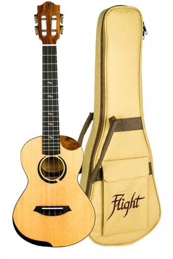 Flight: Victoria Concert Electro Ukulele - Solid Sitka Spruce Top (With Bag)