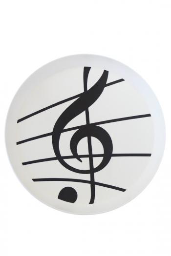 Sonata White Round Tray