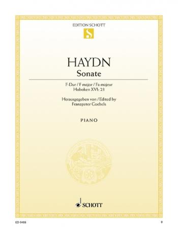 Sonata: F Major: XVI:23  Piano  (Schott)