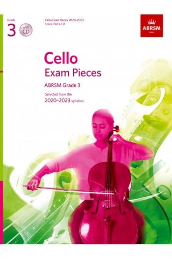 ABRSM Cello Exam Pieces Grade 3 2020-2023: Cello And Piano And Cd