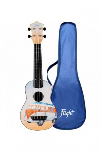 Flight TUS25BUS Travel Ukulele ABS Soprano – Bus/Campervan